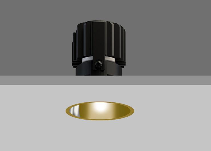 Minitrim 62 Wallwasher Gold